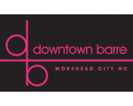 Downtown barre logo pink blk no tag line bold